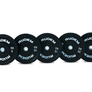 Black Virgin training rubber bumper plates