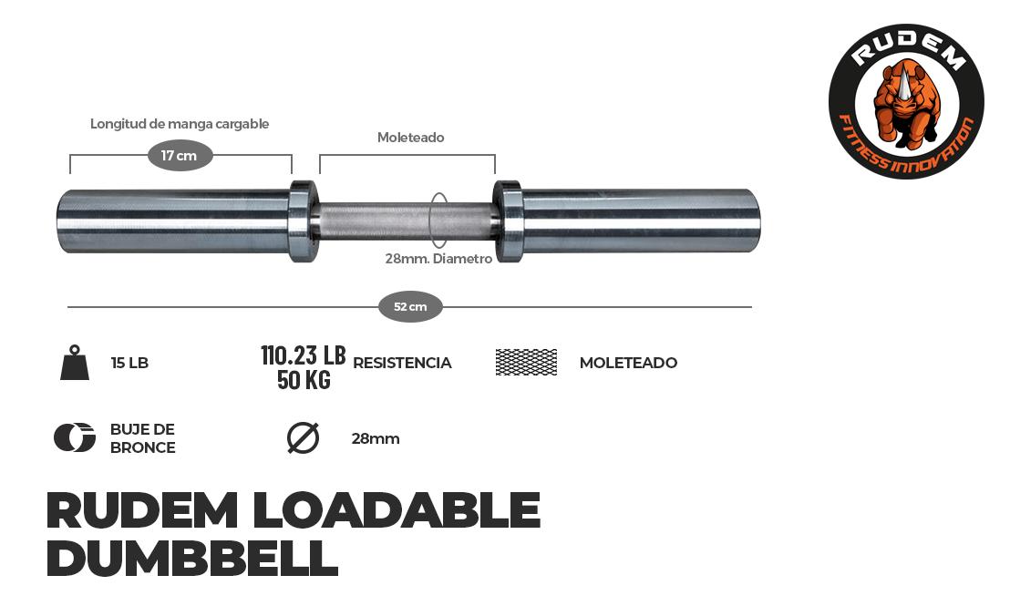 Loadable dumbbell 15LB (x2)