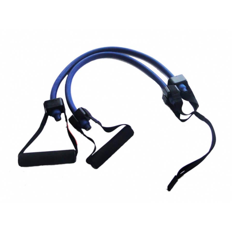 Ligas de resistencia con agarre. Azul