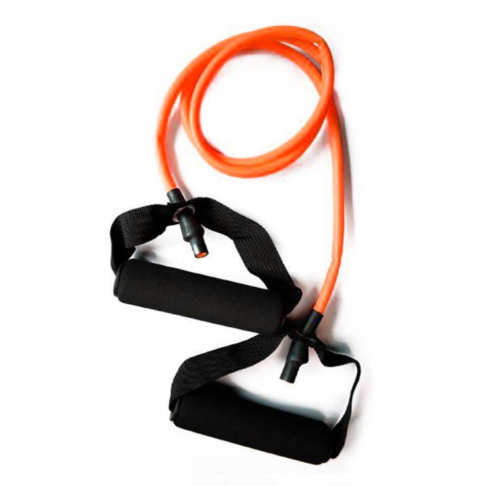Ligas de resistencia con agarre. Naranja