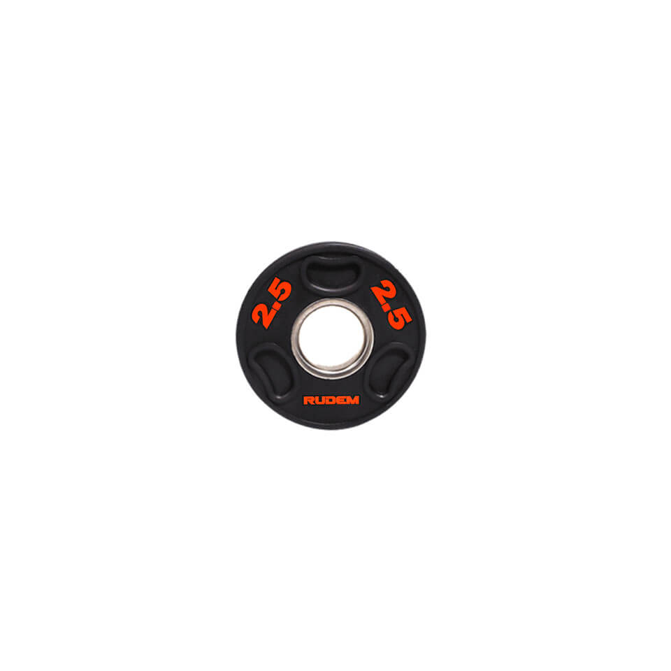 WEIGHT PLATE BLACK LETTERS ORANGE 2.5